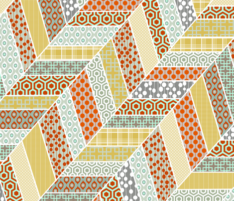 Wonky Chevron cheater quilt fabric by lauradejong on Spoonflower - custom fabric