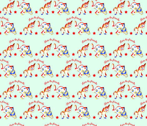 lets_be_friends fabric by thedrawingroom on Spoonflower - custom fabric