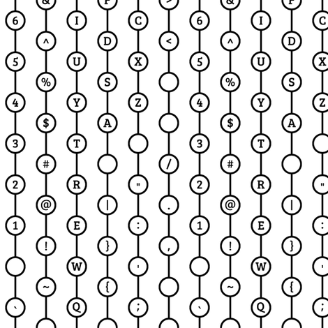 Typewriter Key Curtain Stripe fabric by modgeek on Spoonflower - custom fabric