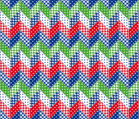 AstrianFarmZigZag-02 fabric by dorisdolls on Spoonflower - custom fabric