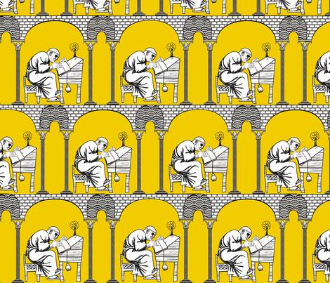 Scriptorium golden rule fabric by glimmericks on Spoonflower - custom fabric