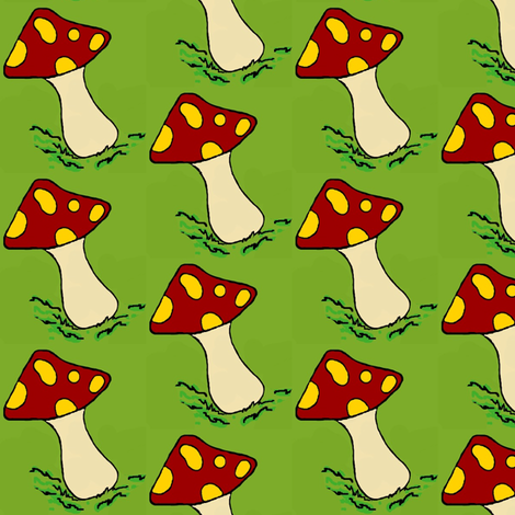 A happy gnome  / mushrooms #2 fabric by paragonstudios on Spoonflower - custom fabric