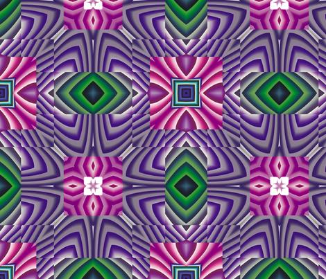 Flowery Incan Tiles 1 fabric by animotaxis on Spoonflower - custom fabric