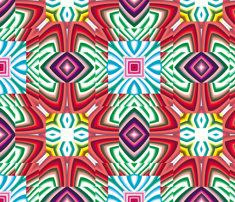 Flowery Incan Mosaics 4 fabric by animotaxis on Spoonflower - custom fabric