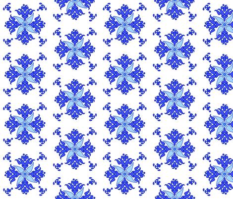 Multani Floral 1 blue bloom fabric by mojiarts on Spoonflower - custom fabric