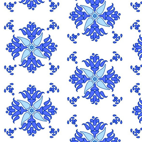 Multani Floral 1 blue bloom large