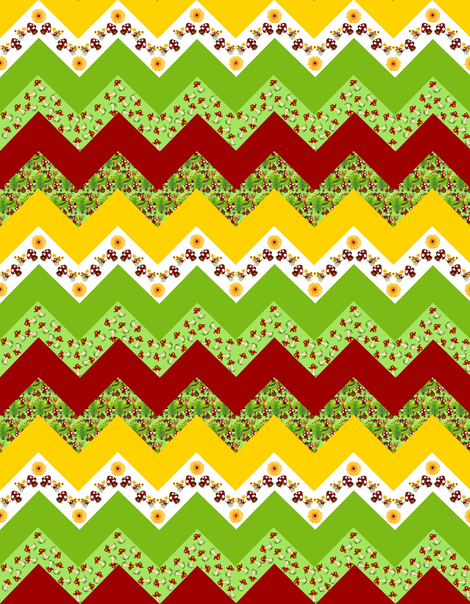 A happy gnome / zigzag fabric by paragonstudios on Spoonflower - custom fabric
