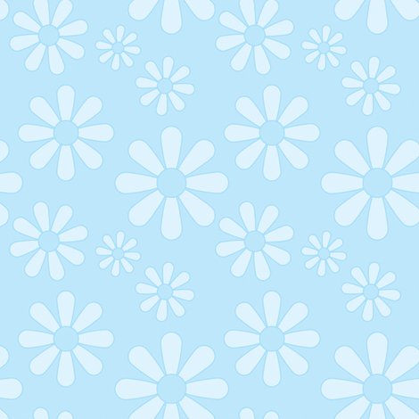 Daisy, Daisy in blue  fabric by design_jessica on Spoonflower - custom fabric