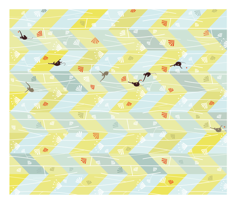 monkey zig zag cheater quilt fabric by happy_to_see on Spoonflower - custom fabric
