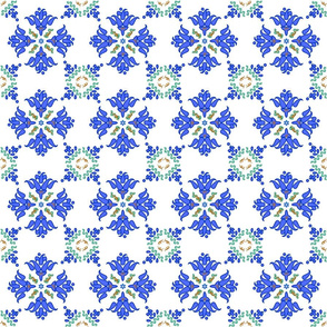 Multani Floral 1 blue green 2