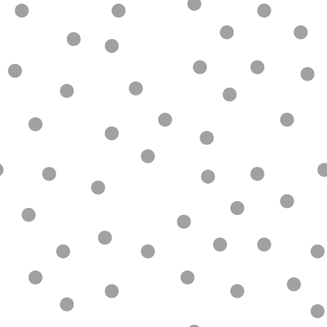 Grey dots on white fabric by pencilmein on Spoonflower - custom fabric