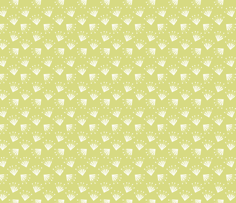 yellow green flower fabric by happy_to_see on Spoonflower - custom fabric