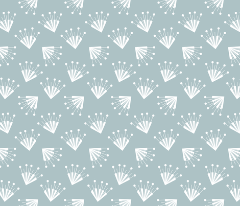 Big flower grey fabric by happy_to_see on Spoonflower - custom fabric