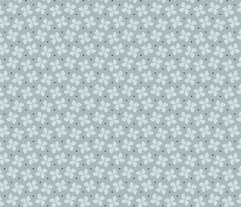 Grey flower / brown dot fabric by happy_to_see on Spoonflower - custom fabric