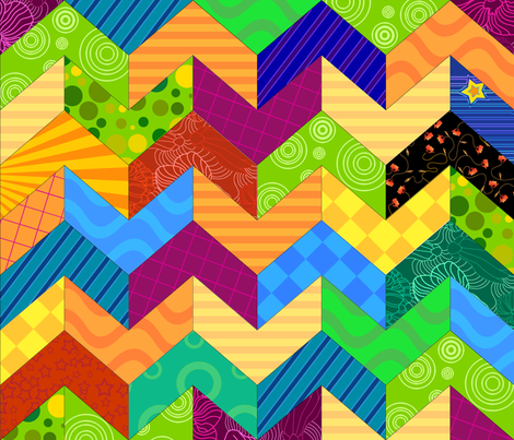 Chevron cheater quilt fabric by padeshahoo on Spoonflower - custom fabric