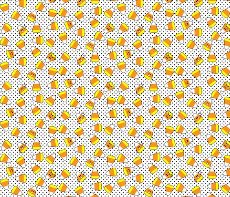 Kawaii Candy Corn fabric by risarocksit on Spoonflower - custom fabric