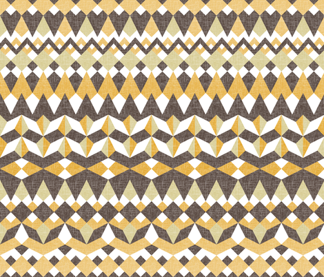 A Desert Mirage - Horizontal Stripes fabric by rhondadesigns on Spoonflower - custom fabric