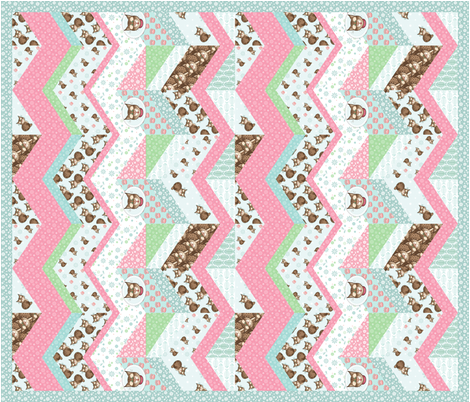Bobbit_zigzag_quilt fabric by woodmouse&bobbit on Spoonflower - custom fabric