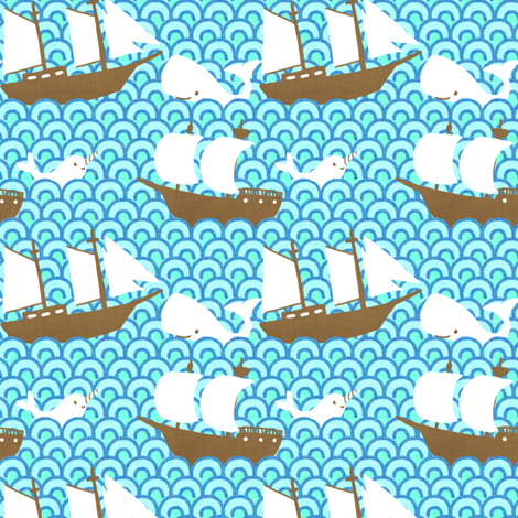Sea Tales fabric by hugandkiss on Spoonflower - custom fabric