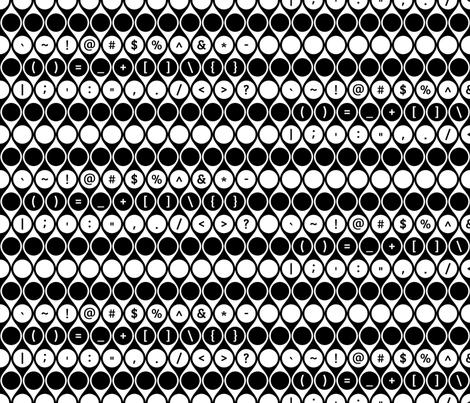 Geometric Symbols Keys Large fabric by modgeek on Spoonflower - custom fabric