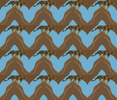 ChevronCheetah quilt  fabric by bouncycat on Spoonflower - custom fabric