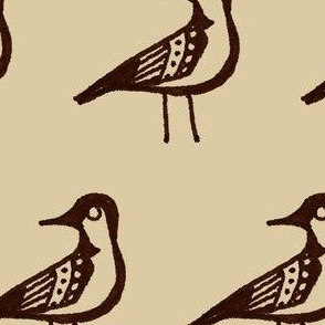 Doodle Bird (Large and Brown)