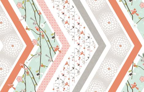 Wake Up Call - Chevron fabric by ttoz on Spoonflower - custom fabric