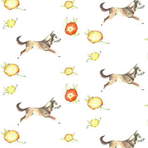 Maya and the Morning Glory fabric by karinalea on Spoonflower - custom fabric