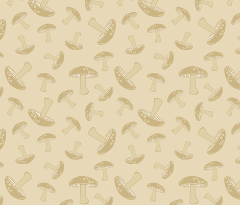Autumn Delights - Mushroom fabric by uzumakijo on Spoonflower - custom fabric