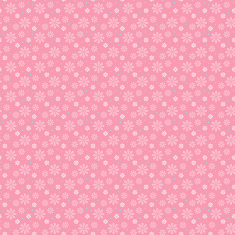 ditsy_flowers_pink fabric by woodmouse&bobbit on Spoonflower - custom fabric