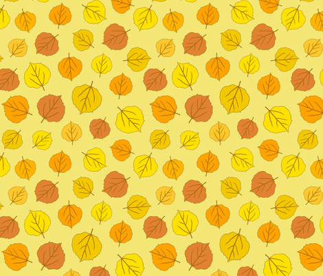 Autumn Delights - Fallen Leaves - Morning Sun fabric by uzumakijo on Spoonflower - custom fabric