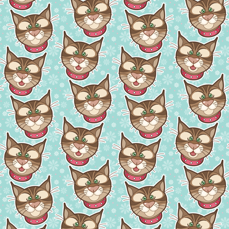 bobbit_faces_01 fabric by woodmouse&bobbit on Spoonflower - custom fabric