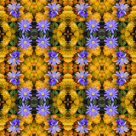 "Purple and Yellow ""Daisy"" Chains_6669 fabric by falcon11 on Spoonflower - custom fabric"