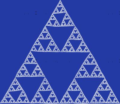 Sierpinski Triangle in Morning Blue