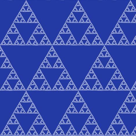Sierpinski Triangle in Morning Blue fabric by weavingmajor on Spoonflower - custom fabric