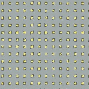Yellow Squares on Gray