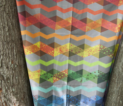 Roy G. Biv (zig-zag cheater quilt panel)