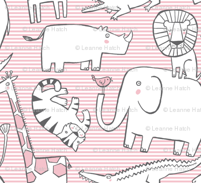 Lullaby Jungle (pink)