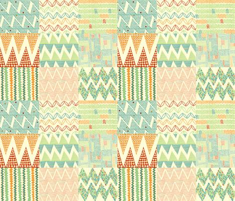 zig_zag_summer fabric by jeannemcgee on Spoonflower - custom fabric