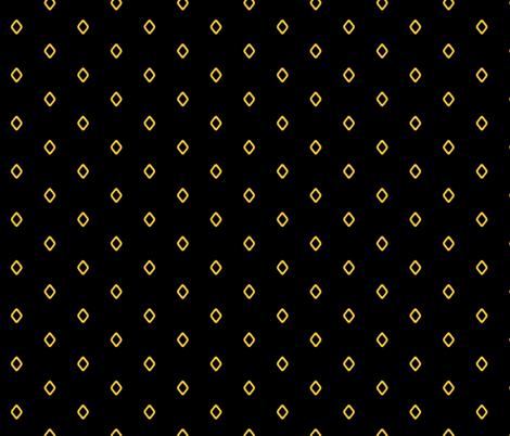 Diamond on Black fabric by pond_ripple on Spoonflower - custom fabric