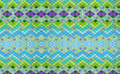 Zig-Zag Peacock fabric by windancerr13 on Spoonflower - custom fabric