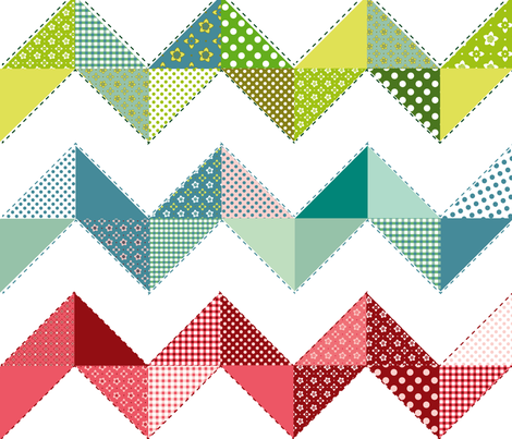 Zig-zag Cheater Quilt fabric by theboutiquestudio on Spoonflower - custom fabric