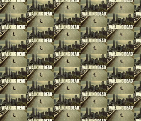 The Walking Dead fabric by kraney88 on Spoonflower - custom fabric