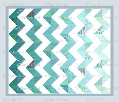 zigzag cheater quilt