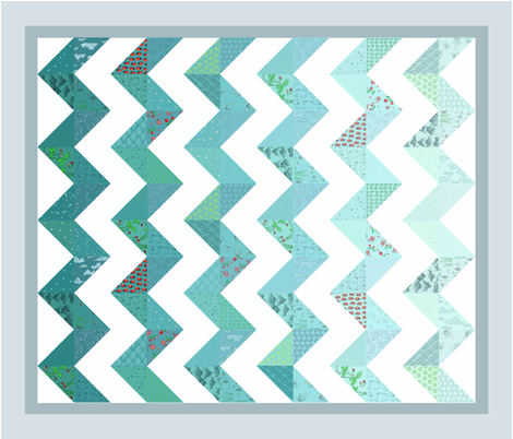 zigzag cheater quilt fabric by glindabunny on Spoonflower - custom fabric