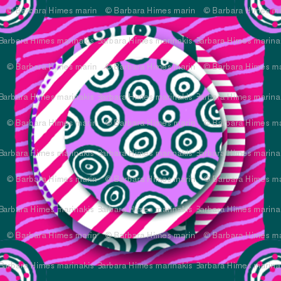 ZZ Kids Cheater Quilt: Stacked Circle Patches - LARGE