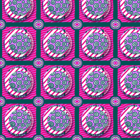 ZZ Kids Cheater Quilt: Stacked Circle Patches - LARGE fabric by tallulahdahling on Spoonflower - custom fabric