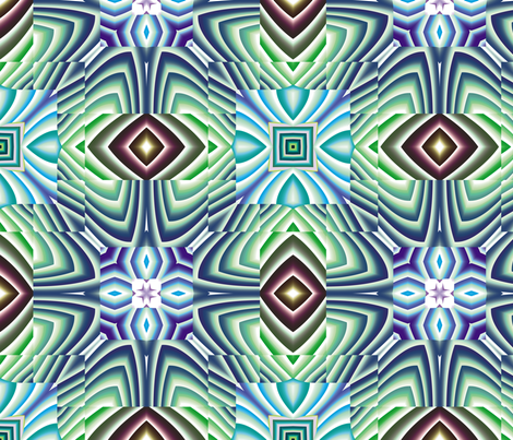 Flowery Incan Tiles 10 fabric by animotaxis on Spoonflower - custom fabric