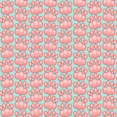 big_paws fabric by woodmouse&bobbit on Spoonflower - custom fabric