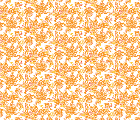 Orange You Lovely fabric by andi_butler on Spoonflower - custom fabric